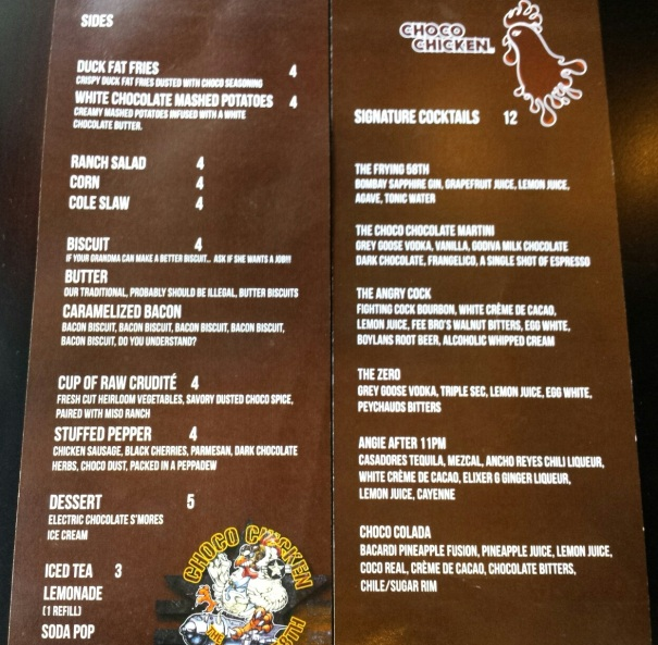 ChcoChicken Menu 2