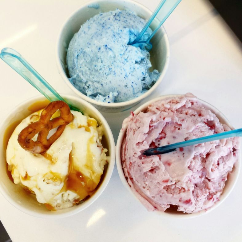 Flavors: Blue Velvet, Strawberry and Salt Lick Crunch