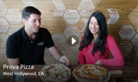 Lorenzo shows us the top pies created at the newly opened Prova Pizzeria.