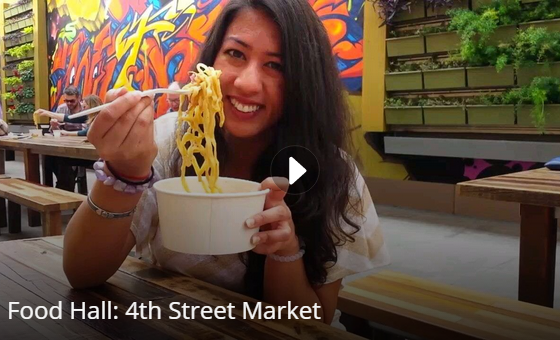 Watch the video for a taste of the good eats you can find at this hip new food hall!
