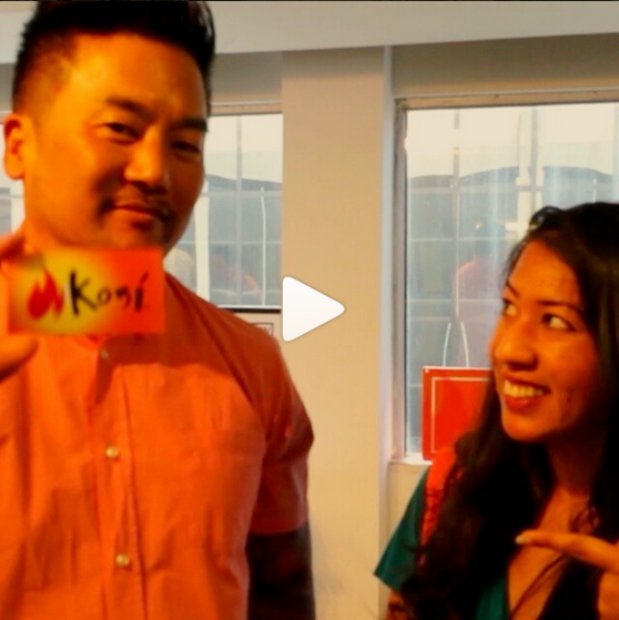 Joking around with Roy Choi